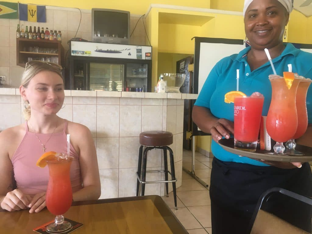 Miss B's rum punches on North Caicos